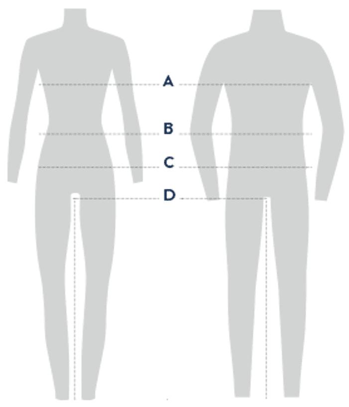 cherokee size chart universal measuring tips